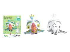 Monumi 3D Papoušek k vymalování