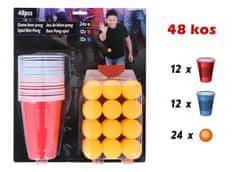 Beer Pong društvena igra, 24 čaše i 24 loptice