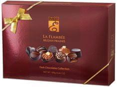 EMOTI Exklusivní výběr belgických pralinek z hořké čokolády La Flambee, 189g