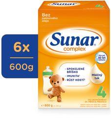 Sunar Complex 4, batolecí mléko, 6x600g