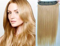 Clip-Vlasy-Levne.cz Clip in rychlopás 43cm rovný – přírodní blond