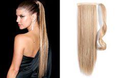 Clip-Vlasy-Levne.cz Clip in příčesek culík/cop 100% lidské vlasy 60cm - přírodní blond