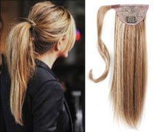 Clip-Vlasy-Levne.cz Clip in příčesek culík/cop 100% lidské vlasy 50cm - světlý melír
