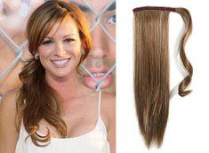 Clip-Vlasy-Levne.cz Clip in příčesek culík/cop 100% lidské vlasy 50cm - světle hnědý