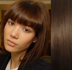 Clip-Vlasy-Levne.cz Clip in ofina – REMY 100% lidské vlasy – STŘEDNĚ HNĚDÁ