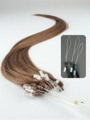 Clip-Vlasy-Levne.cz Vlasy pro metodu Micro Ring / Easy Loop / Easy Ring / Micro Loop 50cm – světlejší hnědá 1 pramen 0,5 gramů