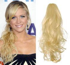 Clip-Vlasy-Levne.cz Clip in příčesek culík / cop 100% japonský kanekalon 60cm kudrnatý - nejsvětlejší blond