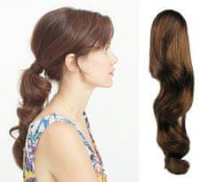 Clip-Vlasy-Levne.cz Clip in příčesek culík / cop 100% japonský kanekalon 60cm vlnitý - středně hnědý