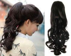 Clip-Vlasy-Levne.cz Clip in příčesek culík / cop 100% japonský kanekalon 60cm kudrnatý - přírodní černá