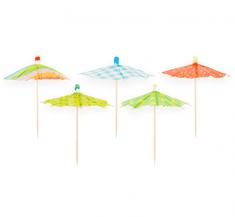 """GoDan Ozdobné koktejlové dáždniky 10 ks """"Premium"""", 10 cm"""