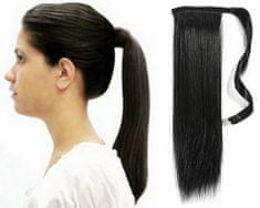 Clip-Vlasy-Levne.cz Clip in příčesek culík / cop 100% japonský kanekalon 60cm - černý