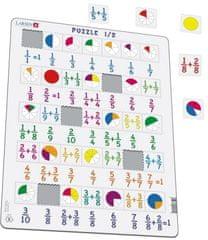 LARSEN Puzzle Počítání - zlomky 35 dílků