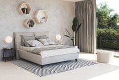 We-Tec Manželská posteľ NAĎA 2, 180x200 cm s úložným priestorom + 2 ks bočne výklopné bukové rošty, béžová