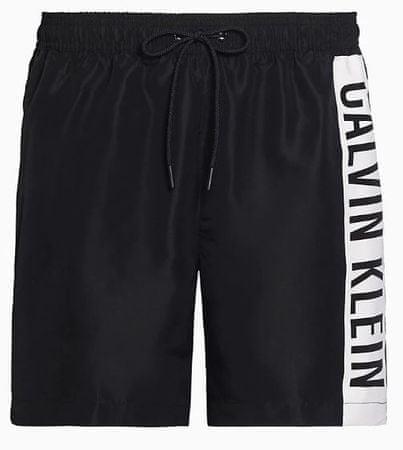 Calvin Klein KM0KM00437 Medium Drawstring moške kopalne kratke hlače, črne, XL