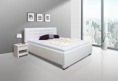 We-Tec Manželská posteľ ADELA 1, 180x200 cm s úložným priestorom + 2 ks bočne výklopné bukové rošty