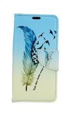 TopQ Pouzdro Huawei P30 Lite knížkové Pírko 41447