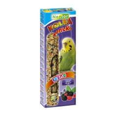 Nestor Tyčinka pro papoušky s lesním ovocem 2ks 85g