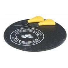 Alpina ALPINA břidlicové prkénko na sýr s náčiním 23cm