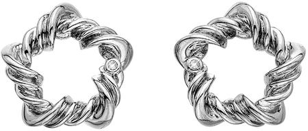 Hot Diamonds Srebrni uhani z diamanti Vine DE619 srebro 925/1000