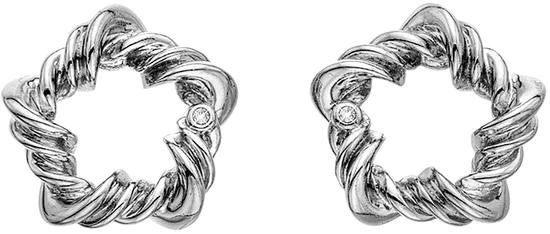 Hot Diamonds Strieborné náušnice s diamantmi Vine DE619 striebro 925/1000