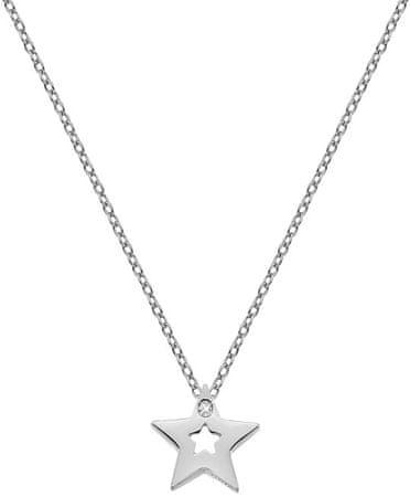 Hot Diamonds Ogrlica iz šterling srebra z amuleti DP722 zvezda srebro 925/1000