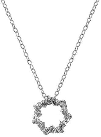 Hot Diamonds Srebrna ogrlica z diamantno Vine DP752 srebro 925/1000