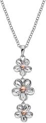 Hot Diamonds Strieborný kvetinový náhrdelník Forget me not DP748 striebro 925/1000