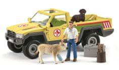 Schleich ratunkowy samochód terenowy z weterynarzem 42503