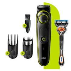 Braun trimer za bradu BT3241, aparat za kosu za muškarce, 39 postavki duljine, crna/zelena