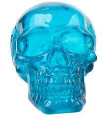 PENN PLAX Krištáľová lebka modrá 7,6x11x8cm dekorácia