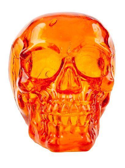 PENN PLAX Křišťálová lebka oranžová 7x4,6x5cm dekorace