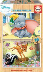 Educa sestavljanke Dumbo, 2 x 16 kosov