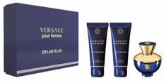 Versace Pour Femme Dylan Blue set, parfemska voda, 50 ml + mlijeko za tijelo, 50 ml + gel za tuširanje, 50 ml
