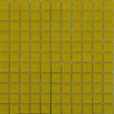 Maxwhite Mozaika ASDK2H02 sklenená žltá s dekorom 29,7x29,7cm sklo