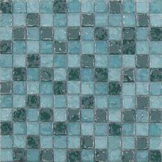 Maxwhite Mozaika ASBH233 sklenená zelená s efektom popraskaného skla 29,7x29,7cm sklo