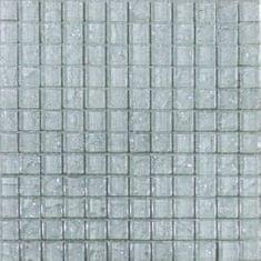 Maxwhite Mozaika ASBH40 sklenená biela s efektom popraskaného skla 29,7x29,7cm sklo