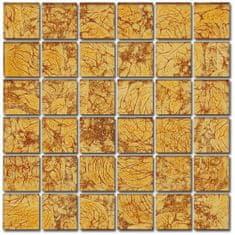 Maxwhite Mozaika ASB100 sklenená oranžová 29,7x29,7cm sklo