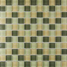 Maxwhite Mozaika ASHS001 sklenená hnedá - zelená 29,7x29,7cm sklo