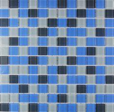 Maxwhite Mozaika ASHS036 sklenená modrá - šedá 29,7x29,7cm sklo