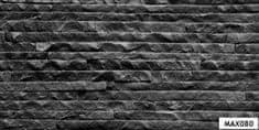 Maxwhite Max080 Obklad břidlice štípaná natural BLACK Belt 580x280mm - Flexibilní obklad