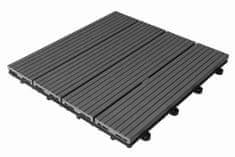 Max WPC dlaždice zámková 30x30cm šedá