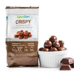 KetoDiet CRISPY proteínové guličky s chuťou mliečnej čokolády 48 g