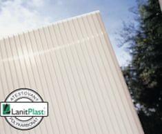 LanitPlast Polykarbonát komůrkový 10 mm opál - 4 stěny - 1,7 kg/m2