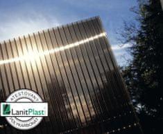 LanitPlast Polykarbonát komůrkový 10 mm bronz - 4 stěny - 1,7 kg/m2