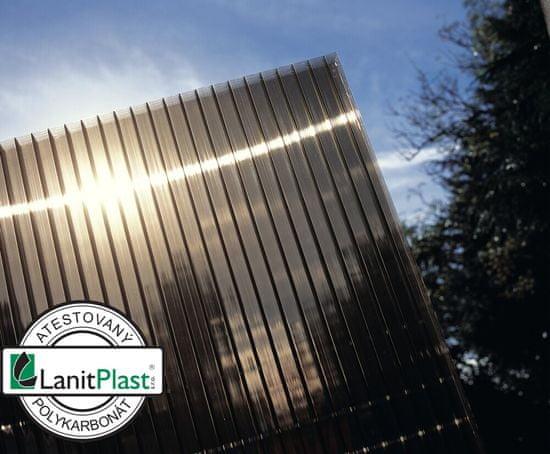 LanitPlast Polykarbonát komůrkový 16 mm bronz - 7 stěn - 2,5 kg/m2 2,10x7 m