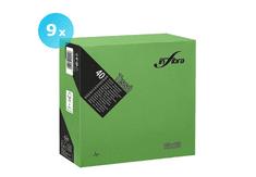 INFIBRA Papírové ubrousky INFIBRA Linea světle zelená 2vrstvy 38x38cm - 9x40ks