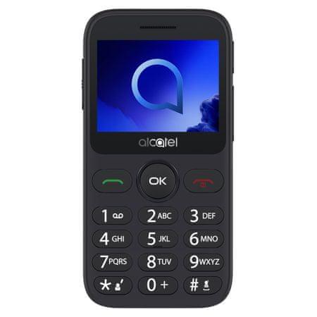 Alcatel 2019G mobilni telefon, s polnilno postajo, kovinsko srebrn