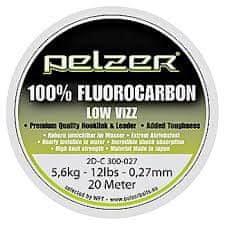 Pelzer - Nadväzcový Vlasec Fluorocarbon 20 m Crystal