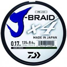 Daiwa Splietaná Šnúra J-Braid 4 Žltá 135 m