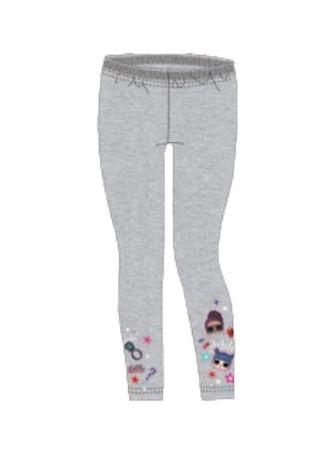 """SETINO Dziewczęce legginsy """"LOL"""" - szary - 122 / 6–7 lat"""
